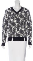 Thakoon Jacquard Silk-Trimmed Sweater