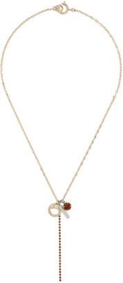 Justine Clenquet Silver and Gold Mel Necklace