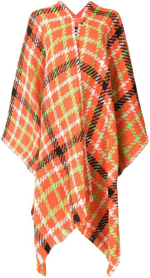 Moschino checked poncho