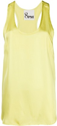 8pm Satin-Twill Tank Top