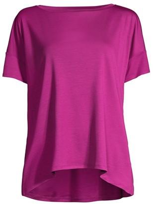 Eileen Fisher Bateau-Neck High-Low T-Shirt