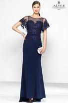Alyce Paris Black Label - 5802 Long Dress In Navy
