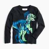 J.Crew Boys' long-sleeve glow-in-the-dark 3D dino T-shirt