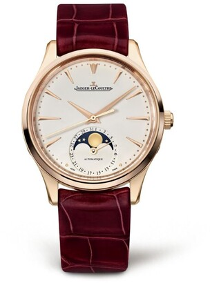 Jaeger-LeCoultre Rose Gold Master Ultra Thin Moon Watch 34mm