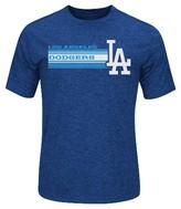 LA Dodgers Men's Charcoal Heather Synthetic T-Shirt