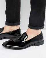 Asos Design DESIGN tassel loafers in black patent