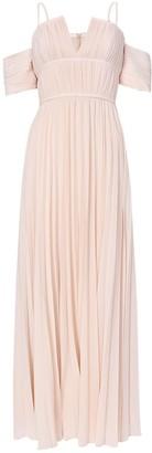 True Decadence Nude Bardot Maxi Dress