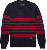 Alexander Mcqueen - Laddered Striped Wool Sweater