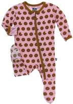 Kickee Pants Baby Girl's Lotus Cookies Footie