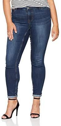 Junarose Women's Jrfashion Queen Dark Blue Jeans-K Suppy Slim Denim, (Size: 40)