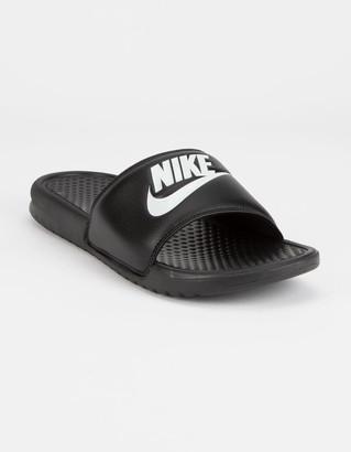 Nike Benassi JDI Black & White Mens Slide Sandals