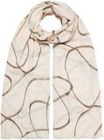 Linea Swirl print scarf
