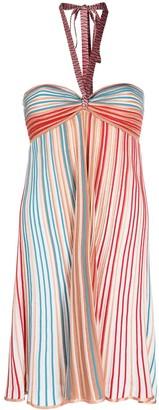 M Missoni Striped Halterneck Mini Dress