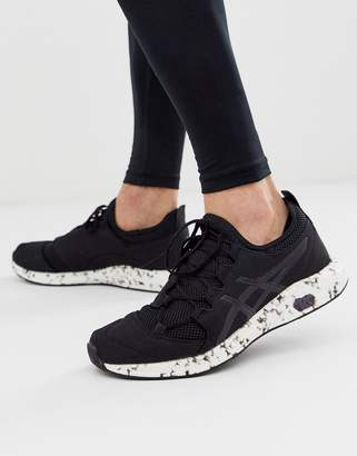 Asics Running hypergel sai knitted trainers in black