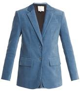 Tibi Corset-back oversized cotton-blend blazer
