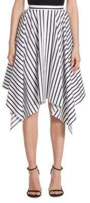 ADAM by Adam Lippes Striped Asymmetric Skirt
