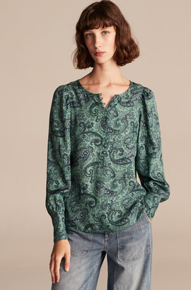 Rebecca Taylor Tailored Margaux Paisley Top