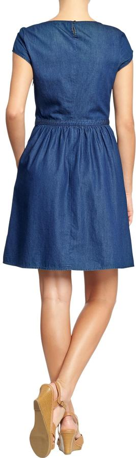 Old Navy Women's Chambray Cap-Sleeve Dresses
