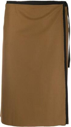 Gianfranco Ferré Pre Owned 2000s Wrap Knee-Length Skirt