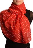 LissKiss White Polka Dot On Unisex Scarf - Scarf