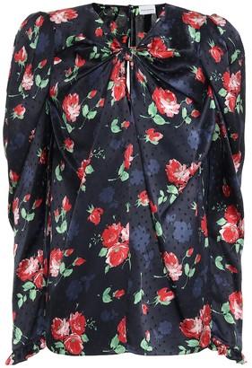 Magda Butrym Caserta floral silk-jacquard blouse
