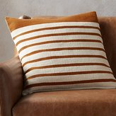 "CB2 20"" Division Rust Pillow"