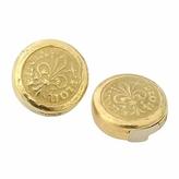 Torrini Fiorino - Fleur-de-Lis 18K Yellow Gold Button Covers