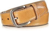 Manieri Cognac Smooth Leather Belt