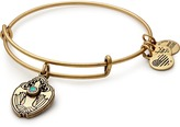 Alex and Ani Crystal Dove Charm Bangle