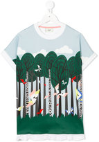 Fendi printed T-shirt - kids - Cotton/Spandex/Elastane - 6 yrs