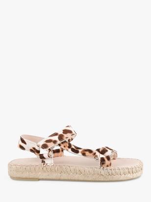 Hush Foxhill Leopard Print Sandals, Multi