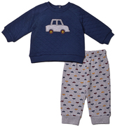 Baby Gear Navy Car Sweatshirt & Gray Joggers - Infant