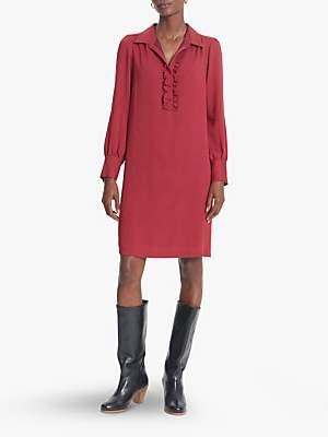 Gerard Darel Della Animal Print Shift Dress, Red