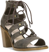 Fergalicious Mambo Lace-Up Block-Heel Sandals