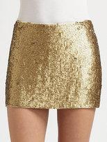 Haute Hippie Textured Sequin Mini Skirt