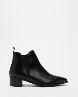 Dazie - Women's Black Chelsea Boots - Britta Ankle Boots - Size 5 at The Iconic