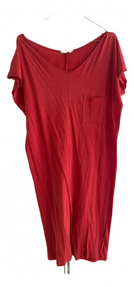 American Vintage Red Cotton Dress for Women