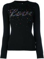 Love Moschino star studded jumper