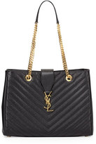 Saint Laurent Monogram Matelasse Shopper Bag, Black