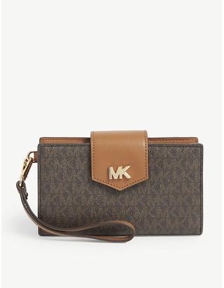 MICHAEL Michael Kors Monogram faux-leather wallet