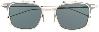 Thom Browne Eyewear TB817 Iron Clubmaster Sunglasses