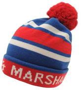 Franklin And Marshall Logo Bobble Beanie Hat