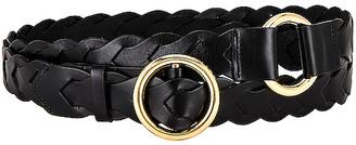 Frame Braided O Ring Double Wrap Belt