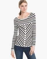 White House Black Market Seaside Stripe Pullover