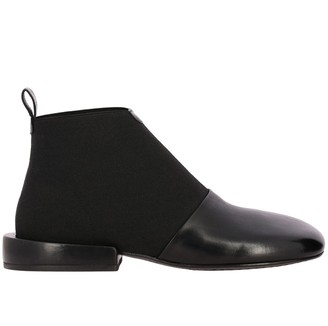 Marsèll Megattera Leather Ankle Boots With Geometric Lines