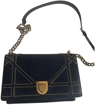 Christian Dior Diorama Navy Leather Handbags