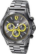 Ferrari Scuderia Men's 'PILOTA' Quartz Resin Casual Watch, Color:Grey (Model: 0830391)