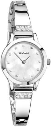 Sekonda Ladies' Mother of Pearl Stone Set Bracelet Watch