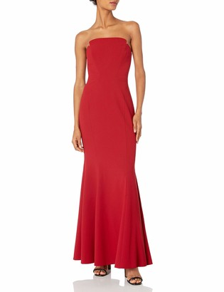 Jill Stuart Jill Women's Fitted Strapless Creepy Gown