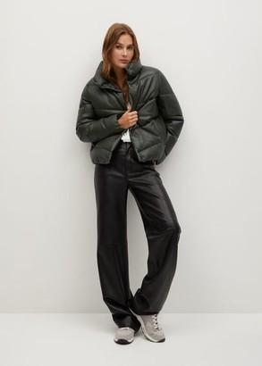 MANGO Quilted skin style jacket